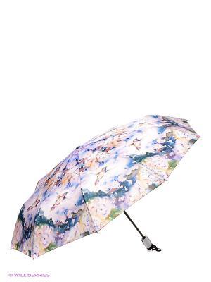 Зонт RAINDROPS. Цвет: голубой, белый