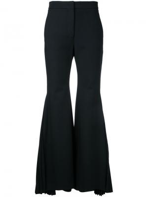 Расклешенные плиссированные брюки Sara Battaglia. Цвет: чёрный
