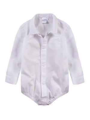 Рубашка-боди Endo. Цвет: белый