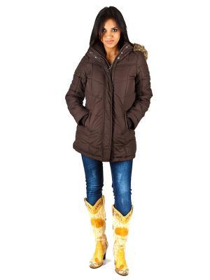 Куртка lawiggi. Цвет: коричневый