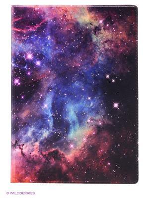 Обложка для автодокументов Голубая туманность Mitya Veselkov. Цвет: фиолетовый, красный, оранжевый