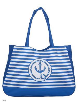 Пляжная сумка Modis. Цвет: белый, голубой