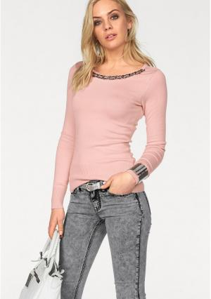 Пуловер MELROSE. Цвет: розовый, черный
