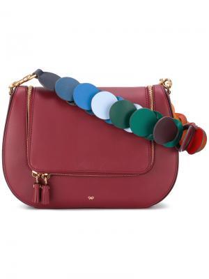 Saddle shoulder bag Anya Hindmarch. Цвет: красный