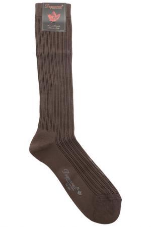 Носки DSQUARED. Цвет: 500, marrone коричневый