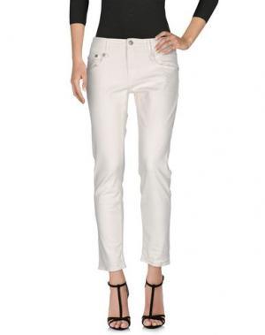 Джинсовые брюки R13. Цвет: белый