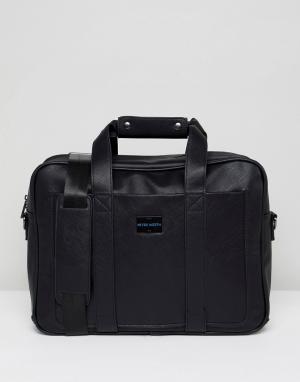 Peter Werth Черная сумка для документов. Цвет: черный