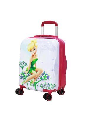 Детский чемодан Sun Voyage. Цвет: зеленый, лиловый, белый