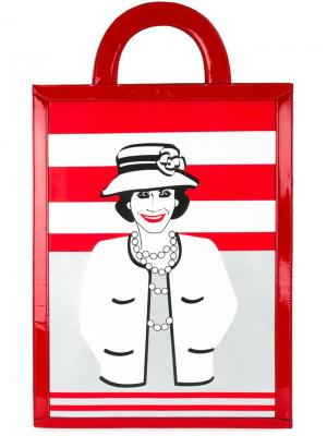 Сумка-тоут  Mademoiselle Chanel Vintage. Цвет: красный