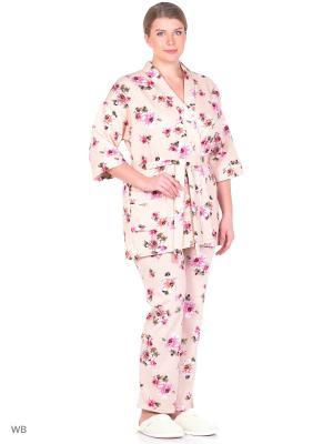 Комплект El Fa Mei. Цвет: белый, розовый, серый