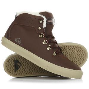 Кеды кроссовки зимние детские  Jax Brown Quiksilver. Цвет: коричневый