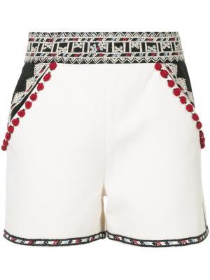 Классические шорты Talitha. Цвет: белый
