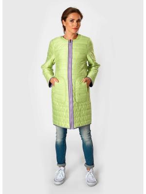 Пальто Bornsoon. Цвет: салатовый, фиолетовый
