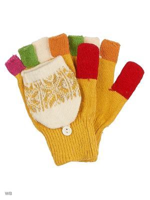 Перчатки lawiggi. Цвет: желтый