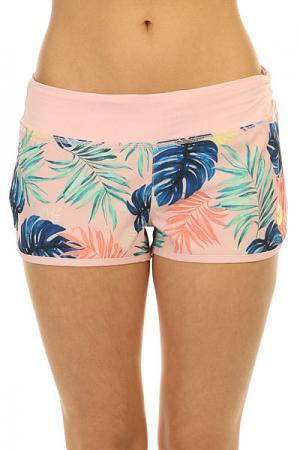Шорты пляжные женские  Endless Sum2 P Beach Palm Combo Ros Roxy. Цвет: розовый