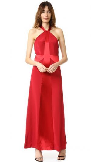 Вечернее платье с высокой горловиной Jill Stuart. Цвет: коричневый