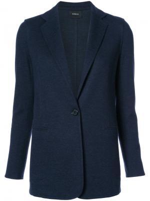 Блейзер с прорезными карманами Akris. Цвет: синий