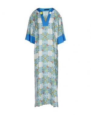 Платье длиной 3/4 TENAX. Цвет: белый