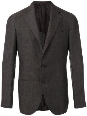 Классический пиджак Caruso. Цвет: серый