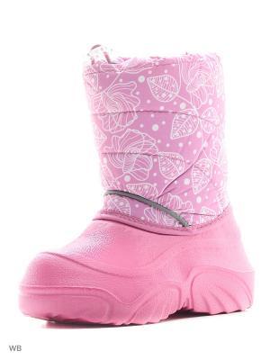 Полусапожки полимерные комбинированные с текстильными материалами и синтетическими кожами детские. BRIS. Цвет: розовый