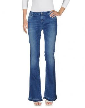 Джинсовые брюки KONTATTO. Цвет: синий