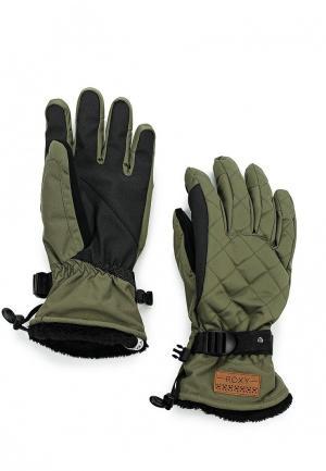 Перчатки горнолыжные Roxy. Цвет: зеленый