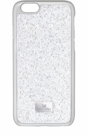 Чехол для iPhone 7 Glam Rock с кристаллами Swarovski. Цвет: серебряный