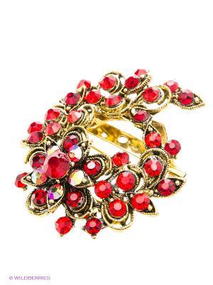 Брошь Lovely Jewelry. Цвет: красный, золотистый
