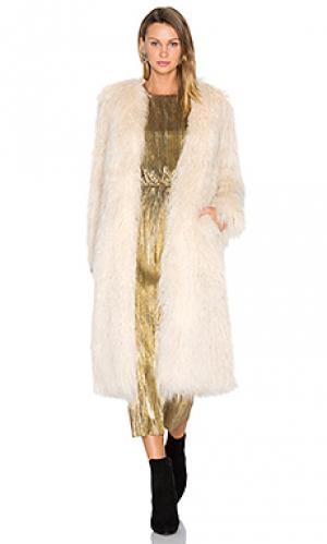 Пальто из искусственного меха marisa House of Harlow 1960. Цвет: ivory