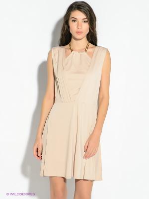 Платье GUESS. Цвет: бежевый