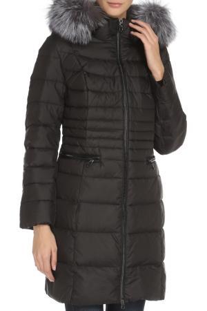 Полуприлегающее пальто c застежкой на молнию Vlasta. Цвет: 91 черный