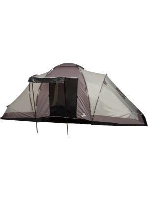 Палатка четырехместная OUTVENTURE. Цвет: бежевый