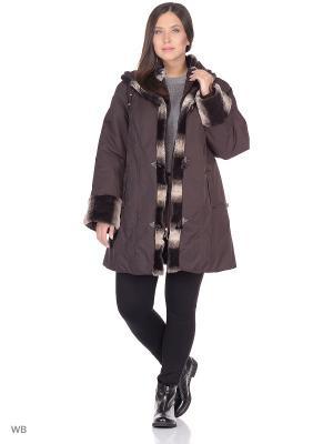 Куртка Эрика VIKO. Цвет: темно-коричневый