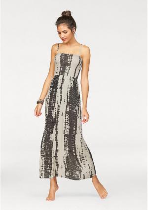 Платье-бандо AJC. Цвет: телесный/черный