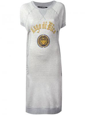 Платье-футболка с принтом Junya Watanabe Comme Des Garçons. Цвет: серый