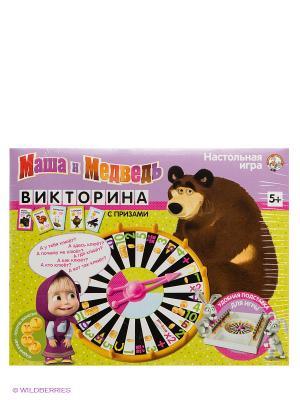 Викторина Маша и Медведь. Цвет: желтый, коричневый
