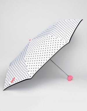 Bombay Duck Черно-белый зонт Bisous. Цвет: белый