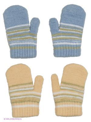 Варежки FOMAS. Цвет: бежевый, хаки, оливковый, голубой