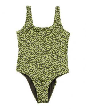 Слитный купальник FISICHINO. Цвет: кислотно-зеленый