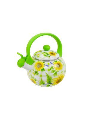 Чайник со свистком (газ/электро) 2 л Peterhof. Цвет: зеленый
