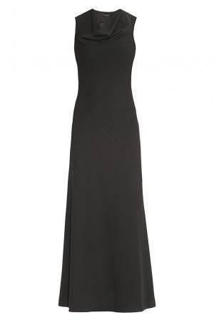Платье из искусственного шелка с хлопком 175924 Cyrille Gassiline. Цвет: черный