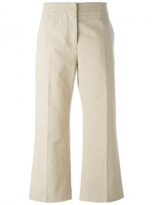 Укороченные расклешенные брюки Marni. Цвет: телесный