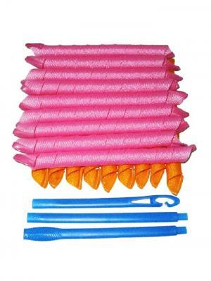 Magic Leverage Волшебные бигуди Длинные 57 см, 18 шт.. Цвет: розовый, желтый