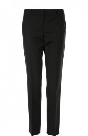 Прямые брюки со стрелками BOSS. Цвет: черный