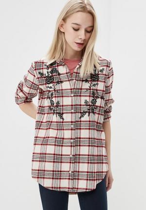 Рубашка Marks & Spencer. Цвет: красный