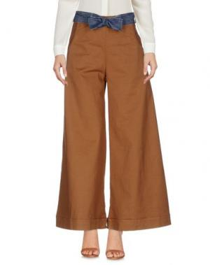 Повседневные брюки MOTEL. Цвет: коричневый