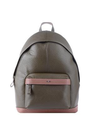 Рюкзак Esse. Цвет: оливковый, светло-коричневый