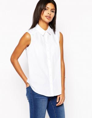 ASOS Рубашка без рукавов. Цвет: белый