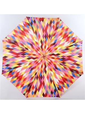 Зонт Zest, 3 слож, ПолнАвто, П-Э Zest. Цвет: синий, красный, светло-желтый