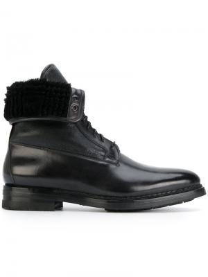Высокие ботинки Santoni. Цвет: чёрный